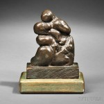 Henry Moore (British, 1898-1986) Mother and Child: Paleo, 1979 (Lot 609, Estimate $15,000-$25,000)