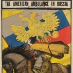A.O. Maksimov The American Ambulance in Russia WWI Lithograph Poster (Lot 1015, Estimate $500-$600)