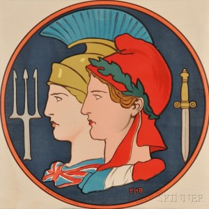 Edwin Howland Blashfield French WWI Lithograph Poster (Lot 1044, Estimate $200-$300)