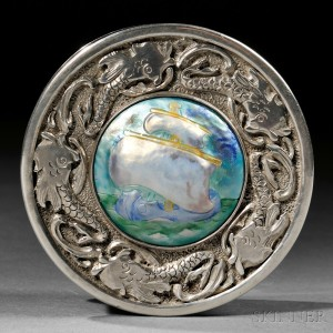 Mildred Watkins Sterling Silver and Enamel Box, Cleveland, Ohio, mid-20th century (Lot 130, Estimate $2,000-$4,000)