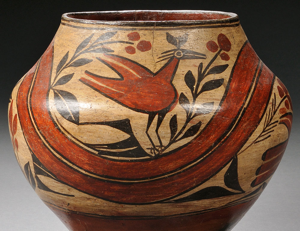 Zia Polychrome Pottery Jar, c. early 20th century (Lot 180, Estimate $600-$800)
