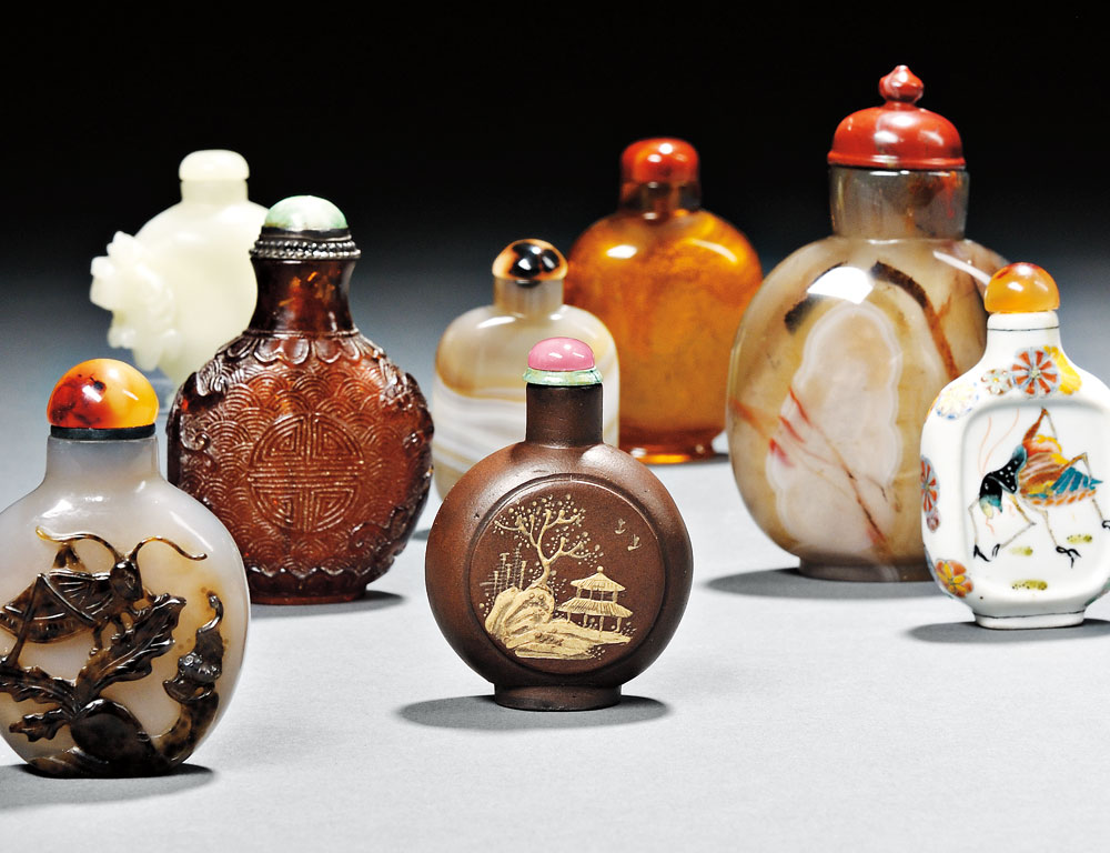 Collection of Snuff Bottles on Offer