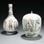 Two Famille Verte White Porcelain Items, China (Lot 113, Estimate $400-$600)