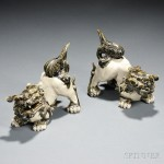 Pair of Ceramic Shishi Lions, Japan (Lot 1095, Estimate $200-$400)