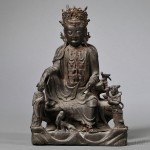 Bronze Figure of Guanyin, China, 19th century (Lot 1186, Estimate $800-$1,000)
