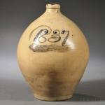 Four-gallon Lyman & Clark Stoneware Jug, Gardiner, Maine, c. 1837 (Lot 1114, Estimate $300-$500)