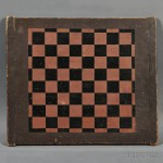 Painted Checkerboard, America, 19th century (Lot 1171, Estimate $400-$600)