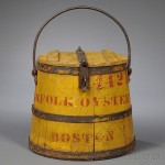 Yellow-painted Norfolk Oyster Company Bucket, Boston, late 19th century (Lot 1176, Estimate $300-$500)