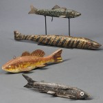 Four Carved and Painted Ice Fishing Decoys, possibly Minnesota, 20th century (Lot 1206, Estimate $600-$800)