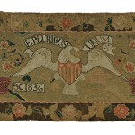 Yarn Sewn Rug, Sarah Colburn, Lowell, Massachusetts, dated 1836 (Lot 1, Estimate $6,000-$8,000)