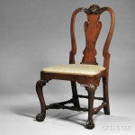 Chippendale Carved Mahogany Side Chair, Boston, Massachusetts, with carving possibly by John Welch (1711-1789) (Lot 39, Estimate $4,000-$6,000)
