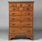 Inlaid Walnut Tall Chest of Drawers, valley of Virginia, probably Shenandoah County, c. 1795 (Lot 59, Estimate $4,000-$6,000)