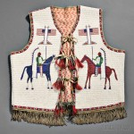 Lakota Pictorial Beaded Hide Vest, c. 1890s (Lot 87, Estimate  $15,000-$20,000)