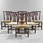 Set of Six Carved Mahogany Side Chairs, possibly Portsmouth, New Hampshire, 1765-80 (Lot 107,   Estimate $8,000-$12,000)