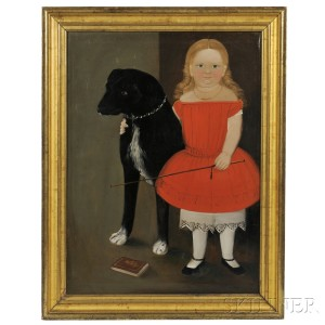 Portrait of Alice Whitman Pickett, Age 2 Years 6 Months, c. 1853 (Lot 321, Estimate $30,000-$50,000)